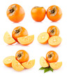 collection of 6 persimmon images