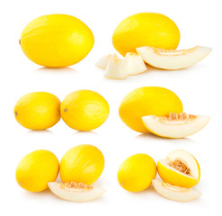 collection of 6 honeydew melon images