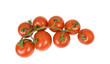 small delicious vine tomatoes, isolated