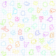 Colourful alphabet background for children