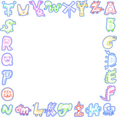 cute animals alphabet card ,sample text for you