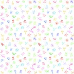 Animal letters background for children