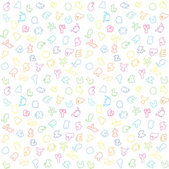 Colourful alphabet background for children
