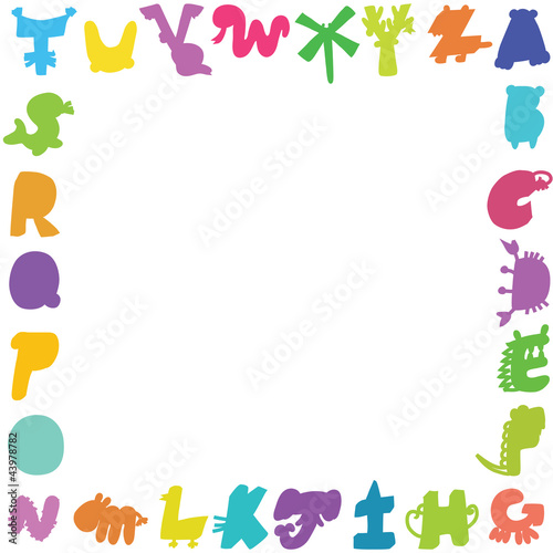 Cartoon  Letters card ,sample text here