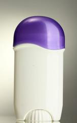deodorant on grey background