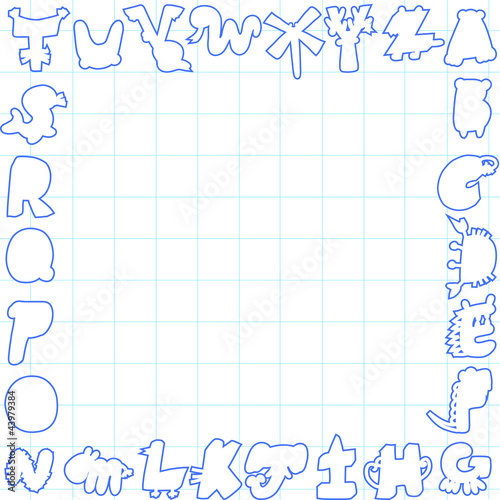 Cartoon alphabet card ,sample text for you
