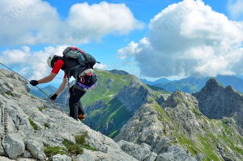 Abstieg an Klettersteig