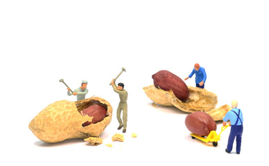 Minimum low wage concept of people working for peanuts