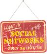 vintage social networks sign