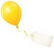 Flying Yellow Balloon & Beige Label