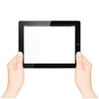 Tablet with Hands horizontal
