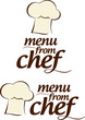 Chef Menu signs set