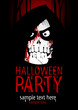 Halloween Party Design template, with death and place for text