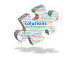SOLUTIONS Tag Cloud (goal business problem-solving)