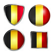 belgium flag icon set