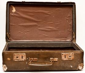 old shabby suitcase