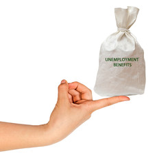 bag with unemployment benefits