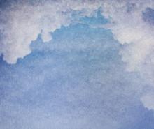 Antieke achtergrond met wolken