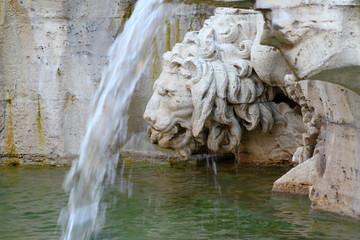 Fontana dei 4 Fiumi, Roma - il Leone