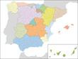 Spanien, Administrativ, Region, Provinz, Landkreis