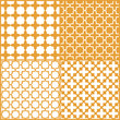 Moroccan lattice seamless pattern set, vector