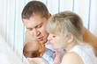 Happy parents and newborn