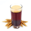 glass of kvass with wheat
