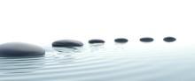 Zen-Weg der Steine im Breitbildformat