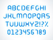 Smooth marker alphabet letters font vector design elements