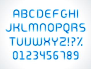Smooth marker alphabet letters font vector design elements