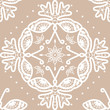 Seamless vector crochet pattern/background with butterflies