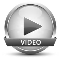 Video Play Button Silber