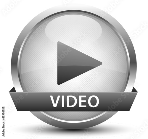 Video Play Button Silber