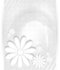 Vector chrysanthemum blue flower vector card. abstract