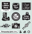 Vector Set: Photography and Vintage Camera Labels