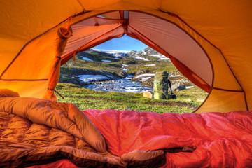 Aussicht aus dem Zelt