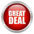 Great deal vector emblem