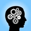 Thinking process, vector illustration