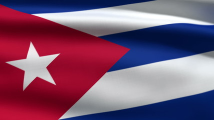 Cuban flag, 3d animation. perfect seamless loop