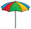 illustration of colorful beach umbrella