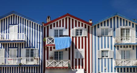 Casas tipicas de Costa Nova (Aveiro,Portugal)