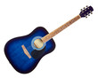Blue Acoustic Guitar
