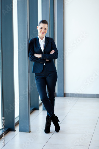 modern young businesswoman full length portrait