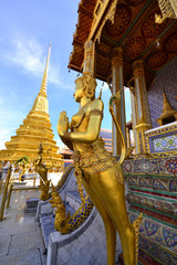 Golden Angel in Grand Palace, Thailand