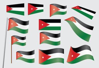 set of flags of Jordan vector illustration