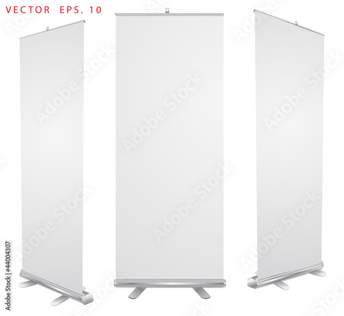 Vector blank roll up banner display
