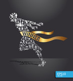 icons sports vector concept with ribbon