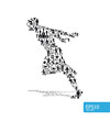 icons sports vector concept running