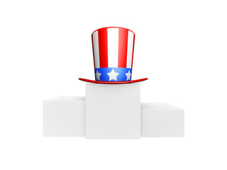 usa hat winner on podium