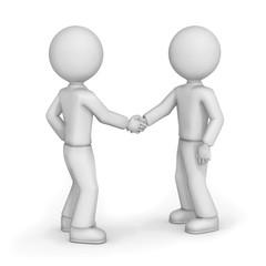 Friends shaking hands